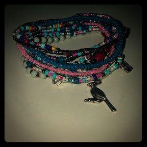 Jewelry - Assorted multicolored beaded bracelets